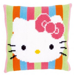 """VER Kreuzstichkissen Hello Kitty """"Gestreift"""""""
