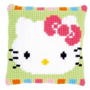 VER Kreuzstichkissen Hello Kitty in Pastelltönen