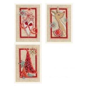 VER Grußkartenpackung Weihnachtssymbole 3er Set