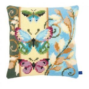 VER Kreuzstichkissenpackung 3 Schmetterlinge