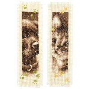 VER Lesezeichen Hund & Katze Aida 2er Set