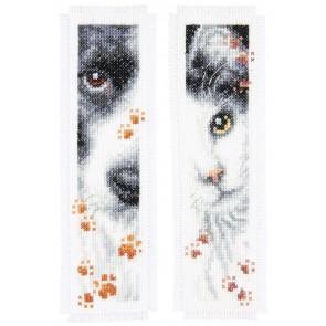 VER Lesezeichen Hund und Katze Aida 2er Set