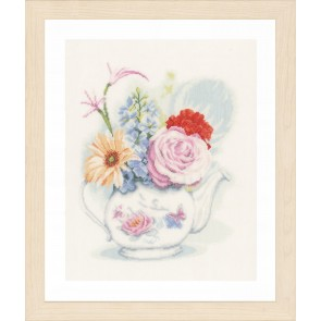 LAN Blumen in Teekanne  Lei. 12 Fd/1 cm ec