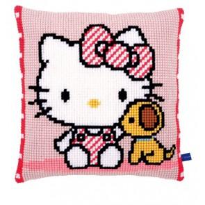 VER Kreuzstichkissen Hello Kitty mit Hund