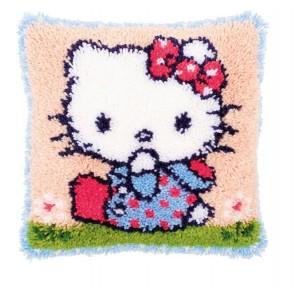 VER Knüpfkissen Hello Kitty auf Gras
