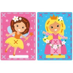 VER Stickkarten Prinzessin & Fee 2er Set