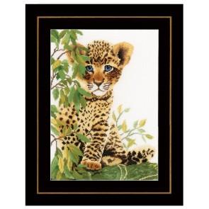 LAN. Zählmusterpackung Junger Leopard 24x33cm