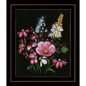 LAN. Zählmusterpackung Blumenpracht 31x36cm