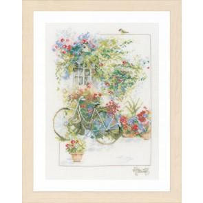 LAN. Zählmusterpackung Fassade mit Blumen 29x39cm