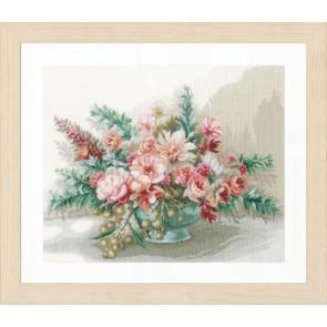 LAN. Zählmusterpackung Blumenstrauß 45x37cm