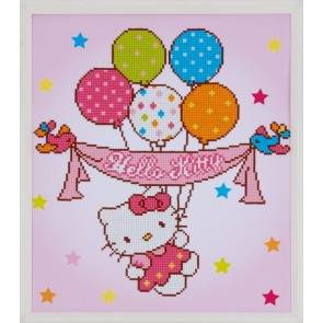 VER Diamond Painting Packung Hello Kitty & Luftballons