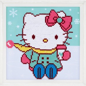 VER Diamond Painting Packung Hello Kitty im Schnee