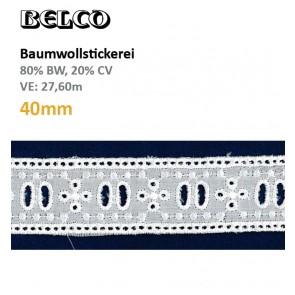 Baumwollstick.Eins.40mm 80%Bw/20%CV, ws