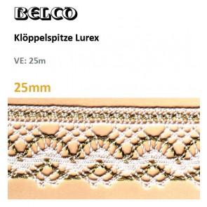 Klöppelspitze  Lurex/100% Bw.
