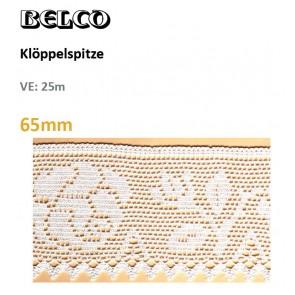 """Klöppelspitze  """"Rosen"""" 65mm; 100% Bw."""