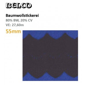 Baumwollstick.55mm  80%Bw/20%CV, schw