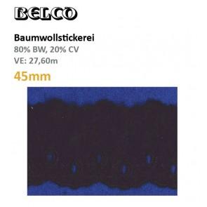Baumwollstick.45mm  80%Bw/20%CV, schwz
