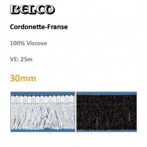 Cordonette-Franse weiß o.schw#