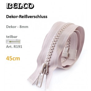 Reißvershl.BELCO Dekor 8mm/sep