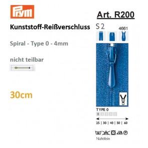 Reißverschl. PRYM Fla-pac, T.0, 30cm
