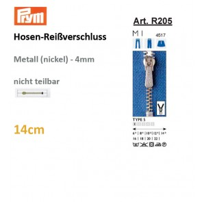 Hosenreißv. PRYM, Fla-Pac, 14cm
