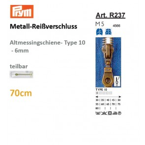 Reißverschl. PRYM Met.altmTX/sep,70cm#