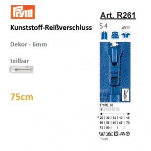 Reißv. PRYM Profil  6mm/sep. 75cm