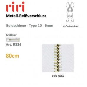 Reißversch.RIRI-Met. gold TX/sep