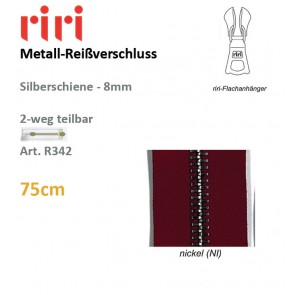 Reißv.RIRI Metall 8 nickel sep DS#