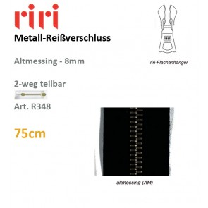Reißv.RIRI Metall 8 altmessing sep DS#