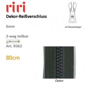 Reißverschl.RIRI-Dekor 6mm/DS-Combi#