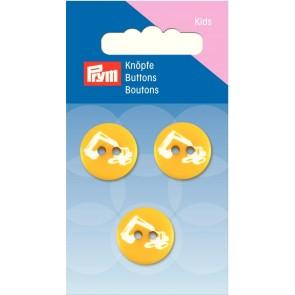 P/SB Knopf 2-Loch Bagger gelb 18 mm #
