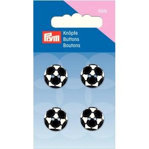 P/SB Knopf 2-Loch Fußball schwarz/weiß #
