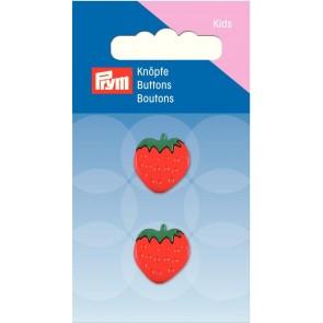 P/SB Knopf Ösen Erdbeere 16 mm #
