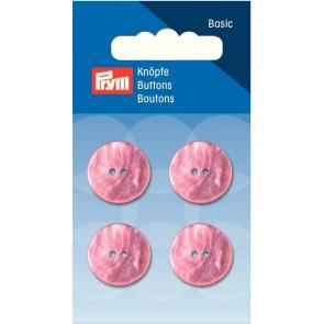 P/SB Knopf 2-Loch Perlmutt rosa 18 mm #