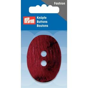 P/SB 2-Loch Knopf Kokos oval dunkelrot 50mm #