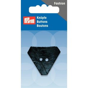 P/SB 2-Loch Knopf Kokos Dreieck dunkelblau 30mm #