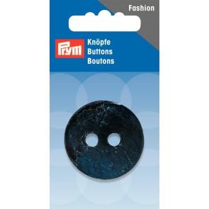 P/SB 2-Loch Knopf Kokos rund dunkelblau 34mm #