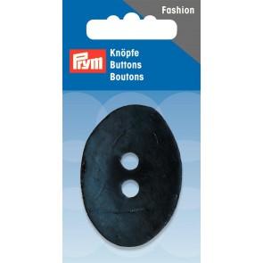P/SB 2-Loch Knopf Kokos oval dunkelblau 50mm #