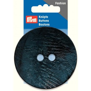 P/SB 2-Loch Knopf Kokos rund dunkelblau 70mm #