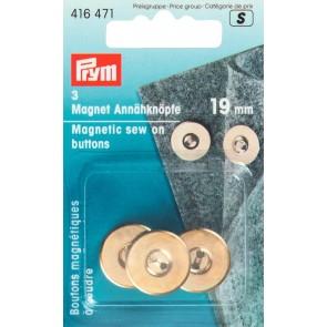 P/SB Magnet-Annähknopf 19mm go