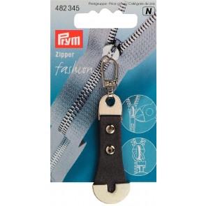 P/SB Fashion-Zipper Leder/Metall grau #
