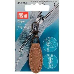 P/SB Fashion-Zipper Lederimitat oval beige #