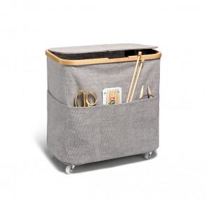 Prym Box Multi Canvas & Bamboo faltbar mit Rollen grau