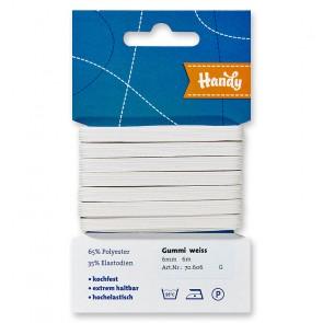 HANDY-SB Gummi weiß, 6mm a 6m