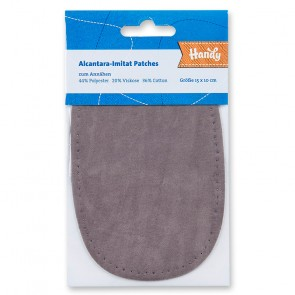 Alcantara-Imitat Patches HANDY,(näh) h.grau