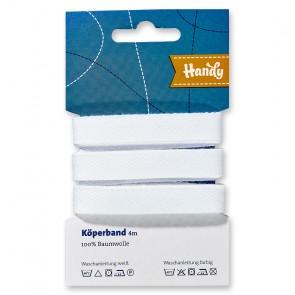 Köperband HANDY-SB weiß 13mm; 4m