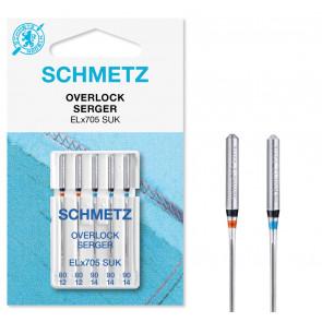 SCHMETZ Overlock ELX705 80-90  5 Ndl.
