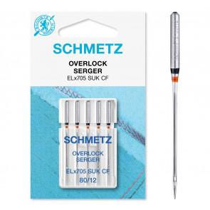 SCHMETZ Overlock ELX705 SUK CF 80  5 Ndl.