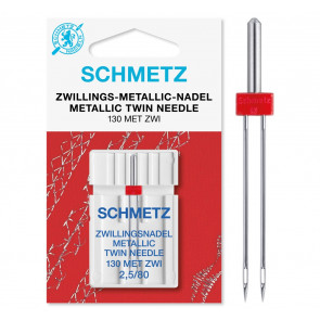 SCHMETZ Metallic-Doppel 130/705 H ZWI 2.5 80 1 Ndl.